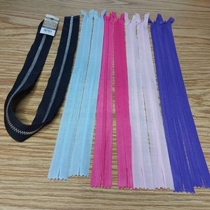 Mixed Coloured Zippers For Sewing